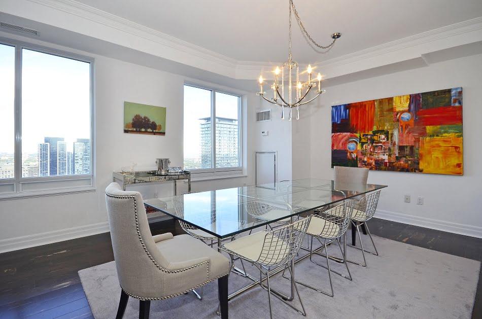 Uptown Condos 35 Balmuto Street Yorkville Toronto Unit 3802 Dining Room Victoria Boscariol Chestnut Park Real Estate
