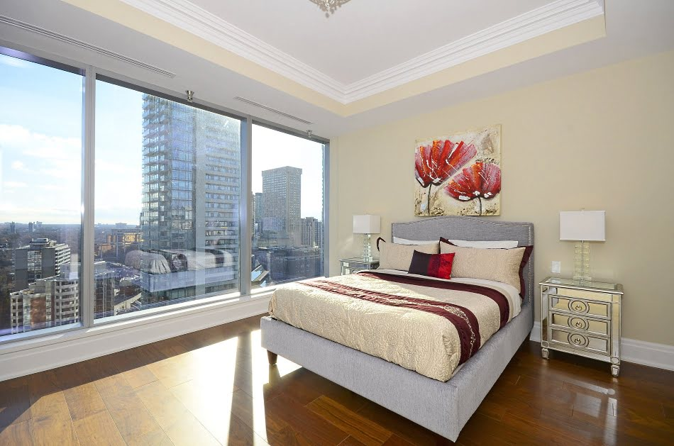 Four Seasons Condos 55 Scollard St 1902 Master Bedroom Yorkville Toronto Victoria Boscariol Chestnut Park Real Estate