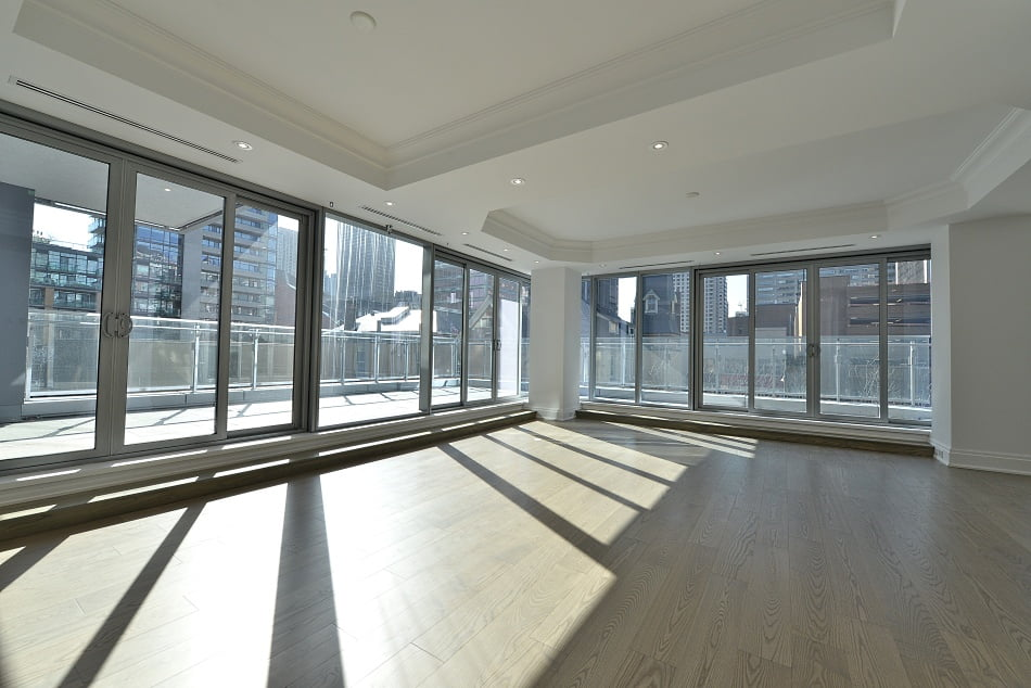 Four Seasons Condos Yorkville Toronto 55 Scollard St Living Dining Room Terrace Victoria Boscariol Chestnut Park Real Estate