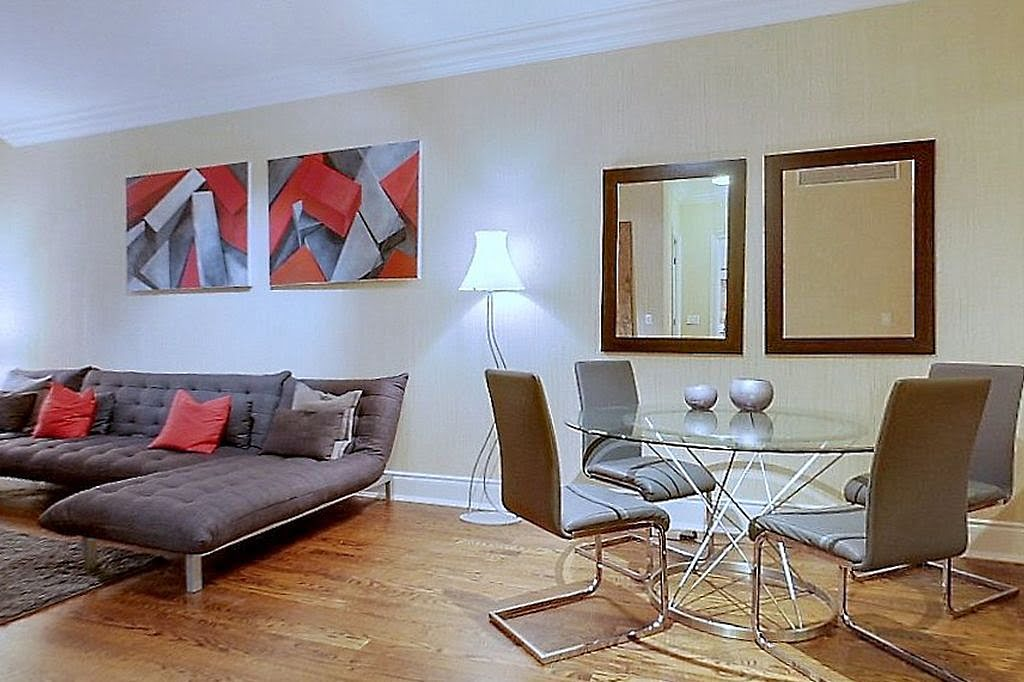 Yorkville Toronto Condos 1 Bedroom Suite 10 Bellair Unit 304 Dining Living Room Victoria Boscariol Chestnut Park Real Estate