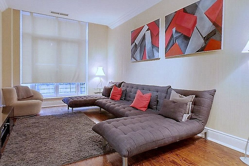 10 Bellair St Unit 304 Living Room Yorkville Toronto Condos Victoria Boscariol Chestnut Park Real Estate