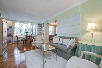 1901 Bayview Ave Unit 109 Living Dining Room Leaside Condos Toronto Victoria Boscariol Chestnut Park Real Estate r