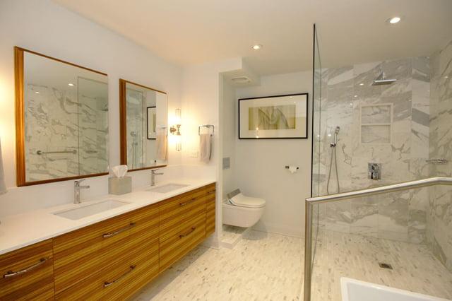 Luxury Apartments For Sale Rosedale Toronto 21 Dale Ave Suite 844 Master Bathroom Victoria Boscariol Chestnut Park Real Estate r
