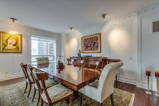1132 Bay St Suite 701 Dining Room Yorkville Luxury Condos Victoria Boscariol Chestnut Park Real Estate