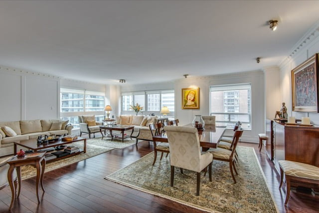 1132 Bay St Suite 701 Yorkville Toronto Condos Living Dining Room Victoria Boscariol Chestnut Park Real Estate