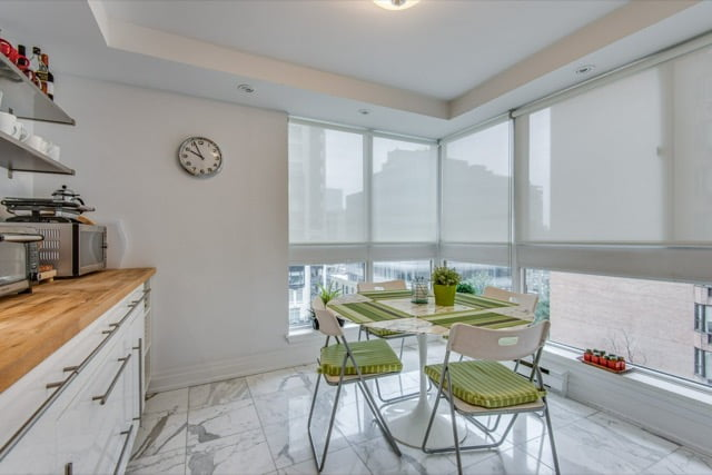 Eat-in Kitchen 1132 Bay St Unit 701 Yorkville Toronto condos For Sale Victoria Boscariol Chestnut Park Real Estate