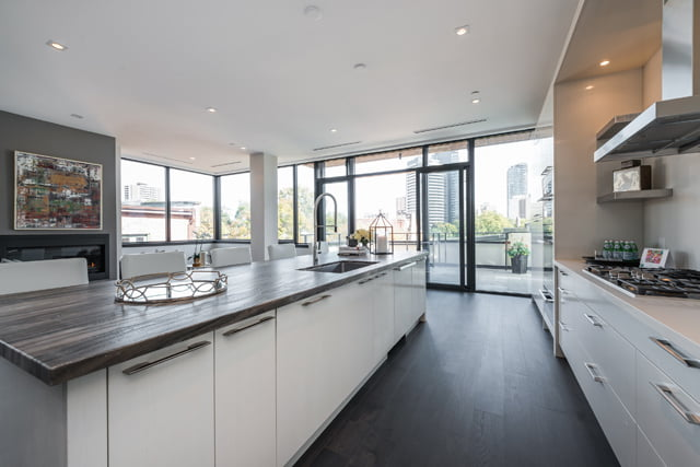 Kitchen Walk-out To Terrace 36 Hazelton Ave Suite 4A Luxury Yorkville Toronto Condo For Sale Victoria Boscariol Chestnut Park Real Estate