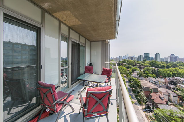 Balcony 83 Redpath Ave Suite 1209 Toronto Condos South View Of Skyline Victoria Boscariol Chestnut Park Real Estate