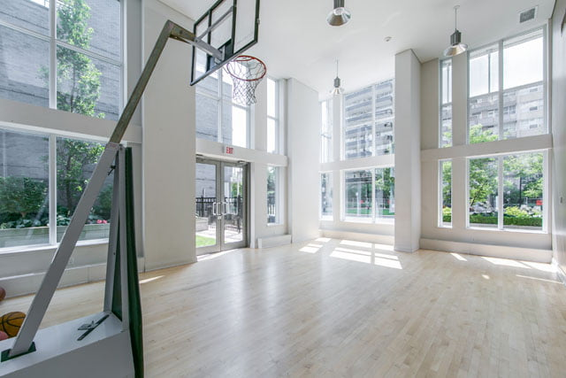 Basketball court yoga studio 83 Redpath Ave Midtown Condos Toronto Yonge Eglinton Victoria Boscariol Chestnut Park Real Estate