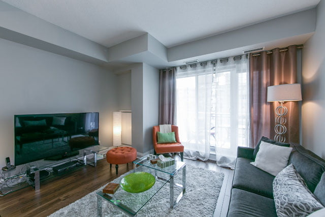 Living Room Unit 1209 83 Redpath Ave Yonge Eglinton Condos Toronto Victoria Boscariol Chestnut Park Real Estate