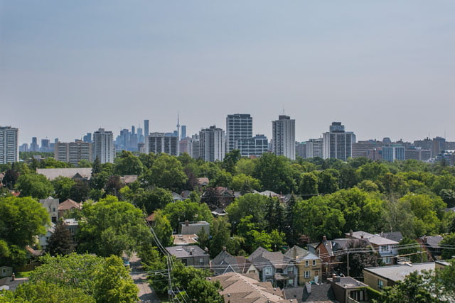 Skyline View From Balcony 83 Redpath Ave Unit 1209 Toronto Condos Midtown Victoria Boscariol Chestnut Park Real Estate