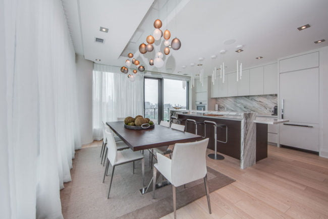 77 Charles St West Suite 1402 Dining Room Toronto Condos Yorkville Luxury Victoria Boscariol Chestnut Park Real Estate
