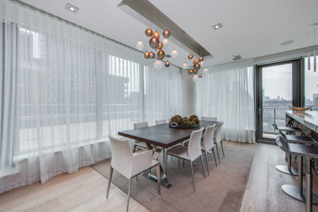 Dining Room 77 Charles St West Toronto Unit 1402 Yorkville Luxury Condos Victoria Boscariol Chestnut Park Real Estate