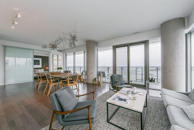 70 Distillery Lane Apartment 3507 Toronto Condos Living Dining Room Victoria Boscariol Chestnut Park Real Estate