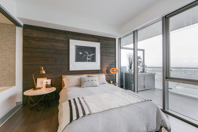 Downtown Toronto Condos 70 Distillery Lane Penthouse 3507 Master Bedroom Victoria Boscariol Chestnut Park Real Estate
