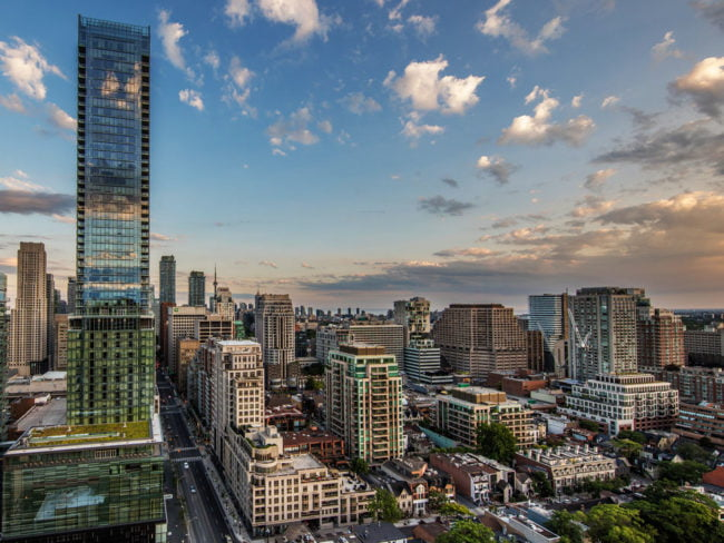 Skyline View Yorkville Looking Down Bay St Victoria Boscariol Chestnut Park Real Estate