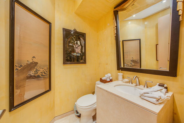 1132 Bay St Unit 1102 Powder Room Yorkville Toronto Condos Victoria Boscariol Chestnut Park Real Estate