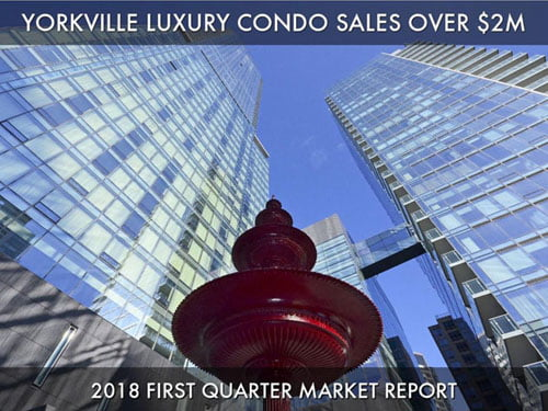 2018 Yorkville Luxury Condo Market Report For Suite Sales Over $2M Sold Prices Per Square Foot 1st Quarter