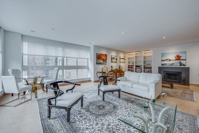 Yorkville Toronto Condos 1132 Bay St Unit 1102 Living Room Victoria Boscariol Chestnut Park Real Estate