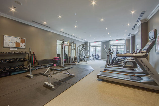 Kilgour Estate 21 Burkebrook Place Gym Toronto Condos Victoria Boscariol Chestnut Park Real Estate