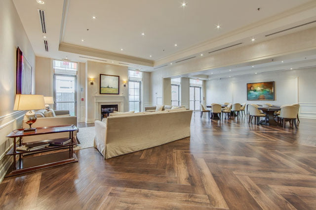 Kilgour Estate Condos 21 Burkebrook Place Party Room Toronto Victoria Boscariol Chestnut Park Real Estate