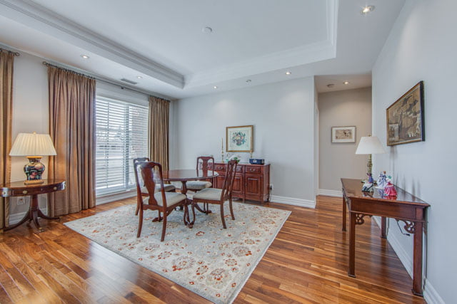 Kilgour Estates 21 Burkebrook Place Unit 404 Dining Room Toronto Condos Victoria Boscariol Chestnut Park Real Estate
