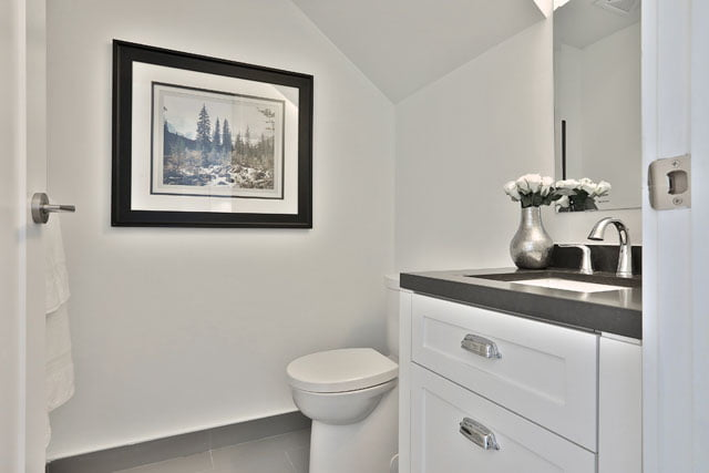 The Upper House Condos Leaside Townhouse 111 Two Piece Powder Room 25 Malcolm Rd Toronto Victoria Boscariol Chestnut Park Real Estate