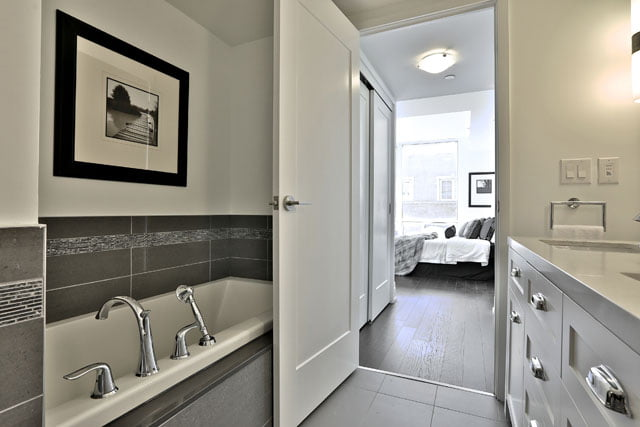 The Upper House Luxury Condos Townhouse 111 Master Bathroom 25 Malcolm Rd Leaside Toronto Victoria Boscariol Chestnut Park Real Estate