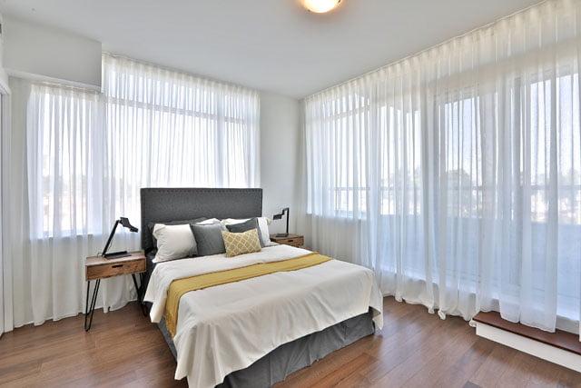 25 Malcolm Rd Suite 205 Toronto Master Bedroom Upper House Condos Leaside Victoria Boscariol Chestnut Park Real Estate