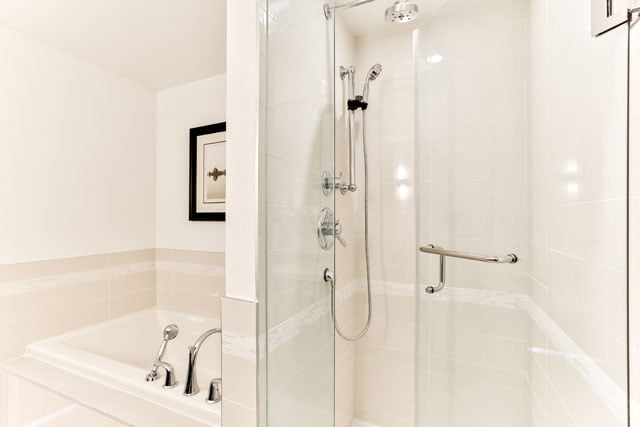 25 Malcolm Rd Suite 410 Toronto Master Bathroom Upper House Condos Leaside Victoria Boscariol Chestnut Park Real Estate