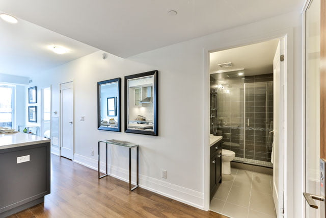 25 Malcolm Rd Unit 410 Entrance The Upper House Condos Leaside Toronto Victoria Boscariol Chestnut Park Real Estate