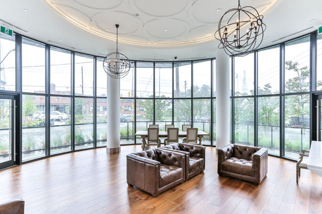 Leaside Condos The Upper House Party Room 25 Malcolm Rd Toronto Victoria Boscariol Chestnut Park Real Estate