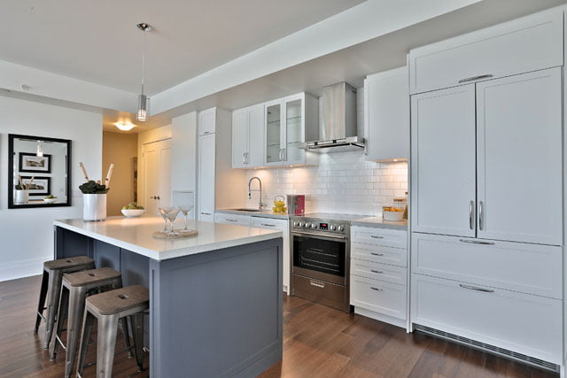 Open Concept Kitchen Suite 205 Upper House Condos Leaside 25 Malcolm Rd Toronto Victoria Boscariol Chestnut Park Real Estate