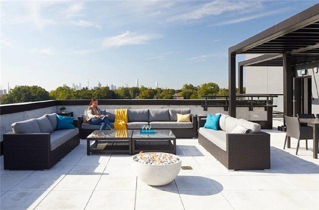 Rooftop Terrace 25 Malcolm Rd Leaside Condos Toronto Victoria Boscariol Chestnut Park Real Estate
