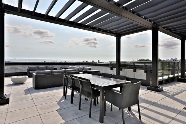 The Upper House Condos Rooftop Terrace 25 Malcolm Rd Leaside Toronto Victoria Boscariol Chestnut Park Real Estate